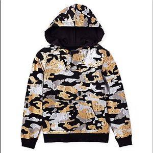 New true religion metallic camo hoodie size 5